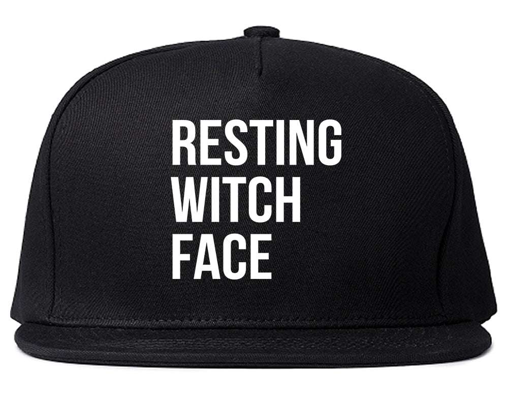 Resting Witch Face Halloween Black Snapback Hat