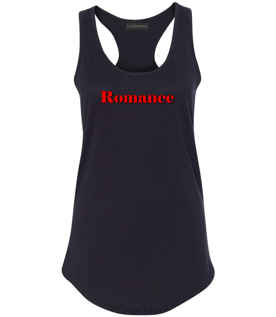 Romance Red Shadow Black Womens Racerback Tank Top