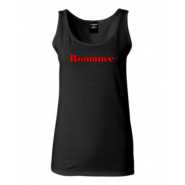 Romance Red Shadow Black Womens Tank Top