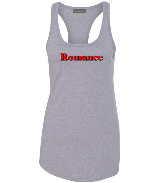 Romance Red Shadow Grey Womens Racerback Tank Top