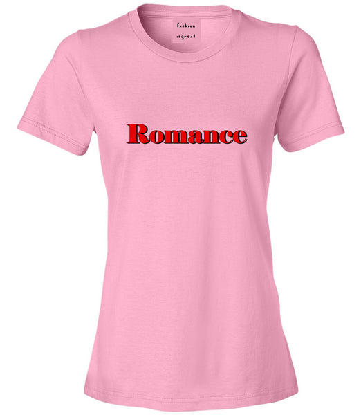 Romance Red Shadow Pink Womens T-Shirt