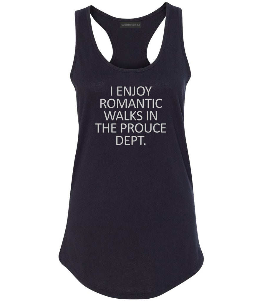 Romantic Produce Dept Food Black Womens Racerback Tank Top