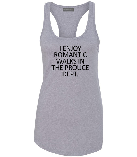 Romantic Produce Dept Food Grey Womens Racerback Tank Top