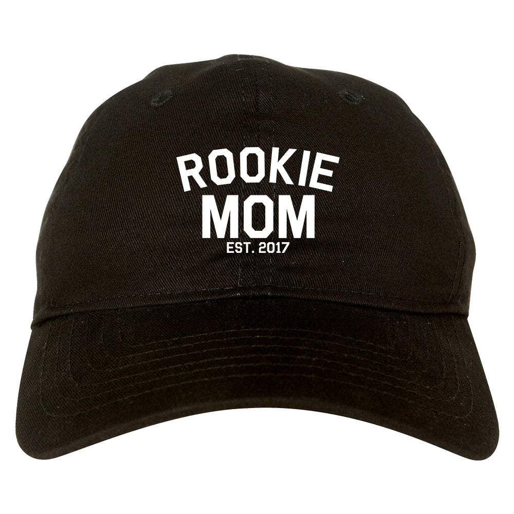 Rookie Mom Est 2017 Gift black dad hat