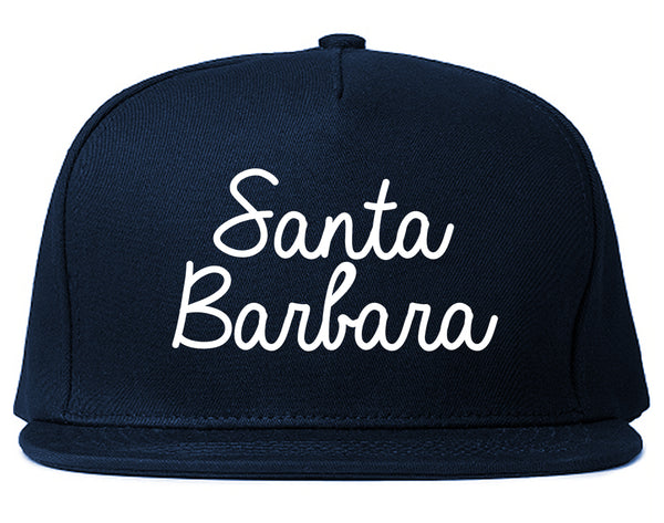 Santa Barbara CA Script Chest Blue Snapback Hat