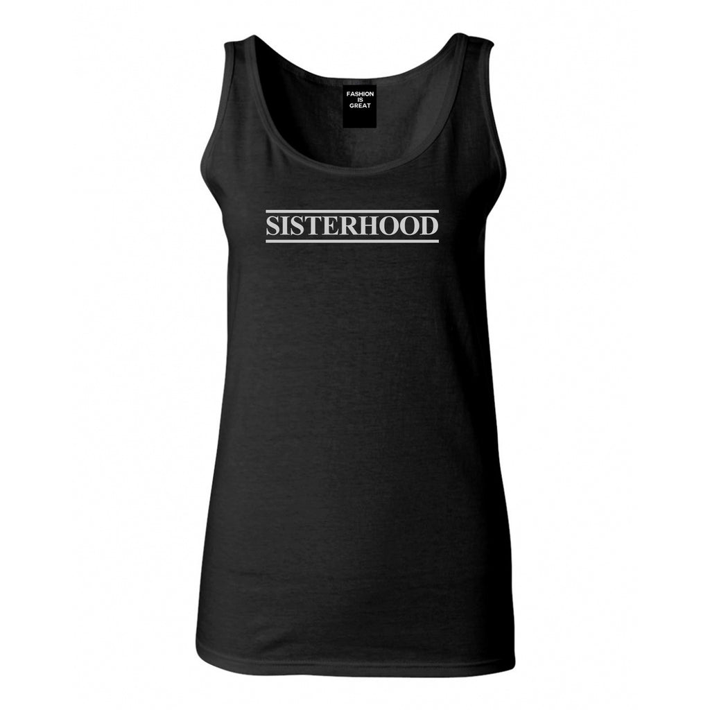 Sisterhood Black Womens Tank Top