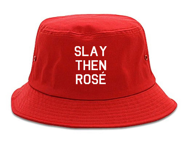 Slay Then Rose Red Bucket Hat