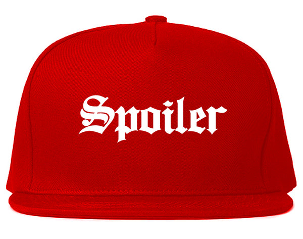 Spoiler Goth Snapback Hat Red
