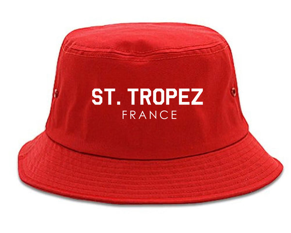 St Tropez France Bucket Hat Red
