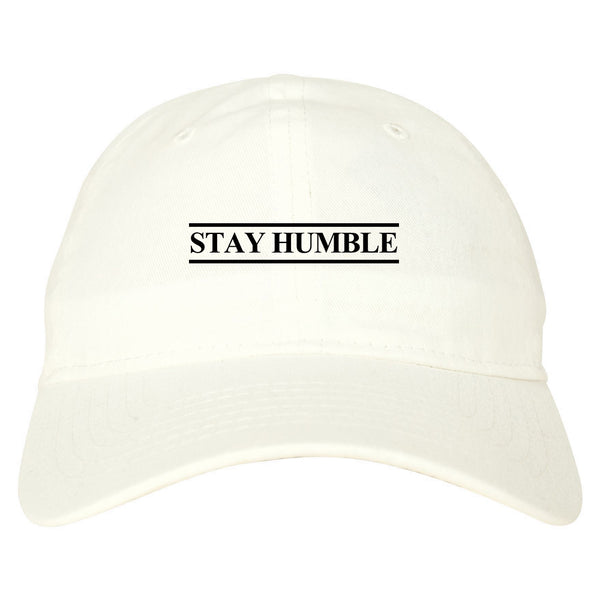 Stay Humble Lines white dad hat