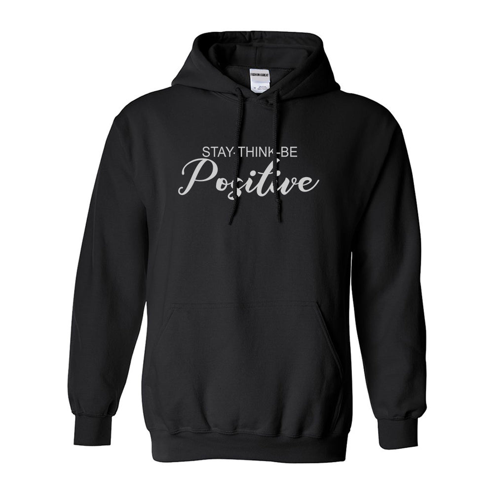 Stay Think Be Positive Black Womens Pullover Hoodie