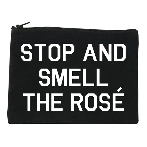 Stop And Smell The Rose Wine Black Makeup Bag