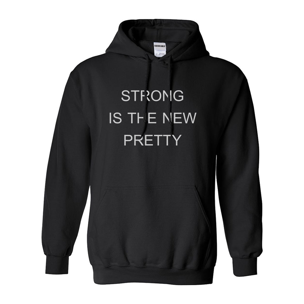 Strong Is The New Pretty Black Womens Pullover Hoodie