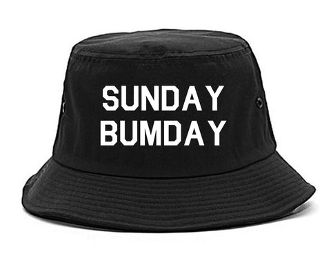 Sunday Bumday Laundry Black Bucket Hat