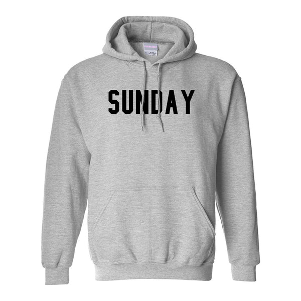 Sunday Days Of The Week Grey Womens Pullover Hoodie