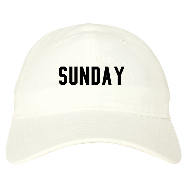 Sunday Days Of The Week white dad hat