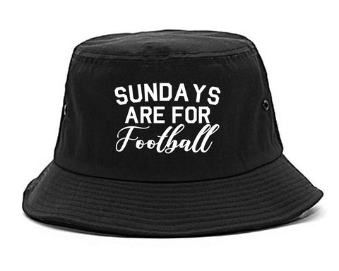 Sundays Are For Football Sports Black Bucket Hat