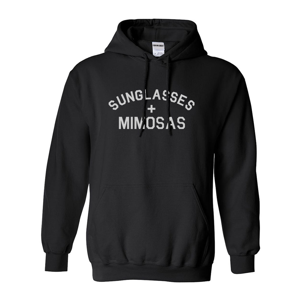 Sunglasses And Mimosas Vacay Black Womens Pullover Hoodie