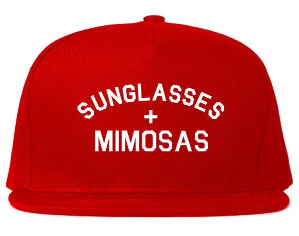 Sunglasses And Mimosas Vacay Red Snapback Hat