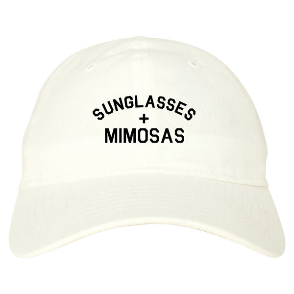 Sunglasses And Mimosas Vacay white dad hat
