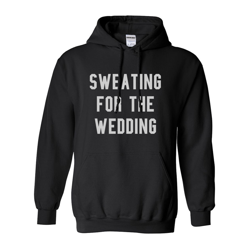 Sweating For The Weddding Bride Black Womens Pullover Hoodie