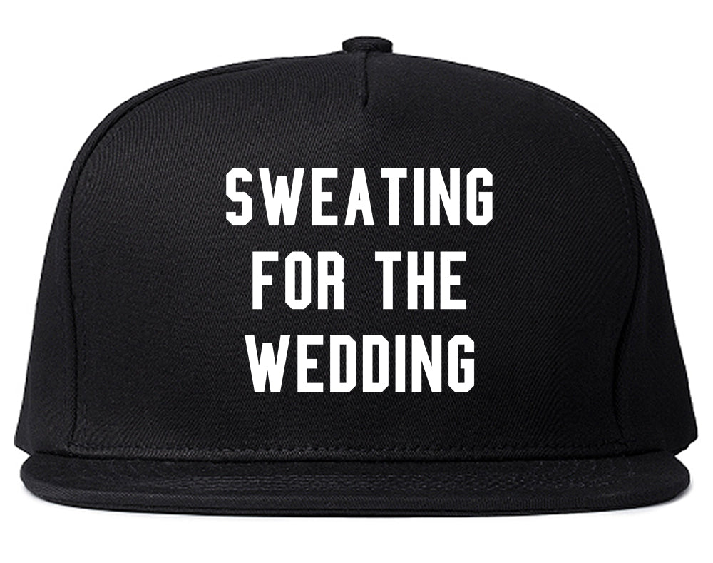 Sweating For The Weddding Bride Black Snapback Hat