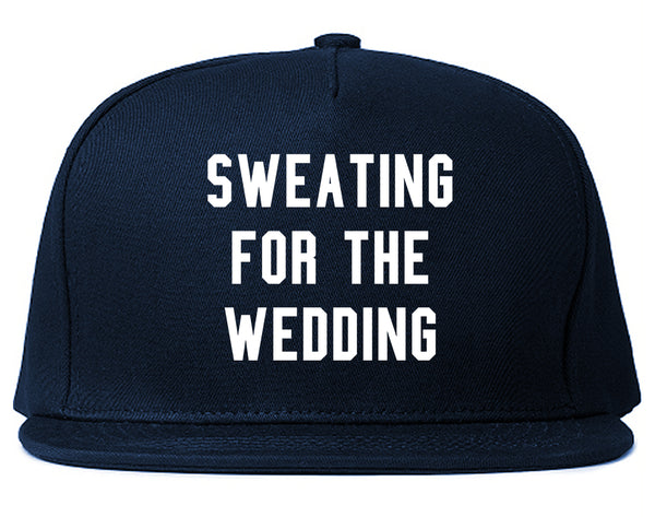 Sweating For The Weddding Bride Blue Snapback Hat