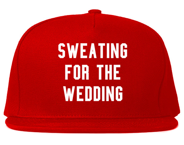 Sweating For The Weddding Bride Red Snapback Hat