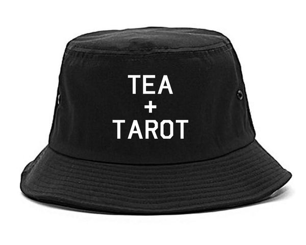 Tea And Tarot Cards black Bucket Hat