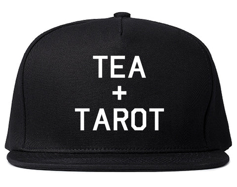 Tea And Tarot Cards Black Snapback Hat