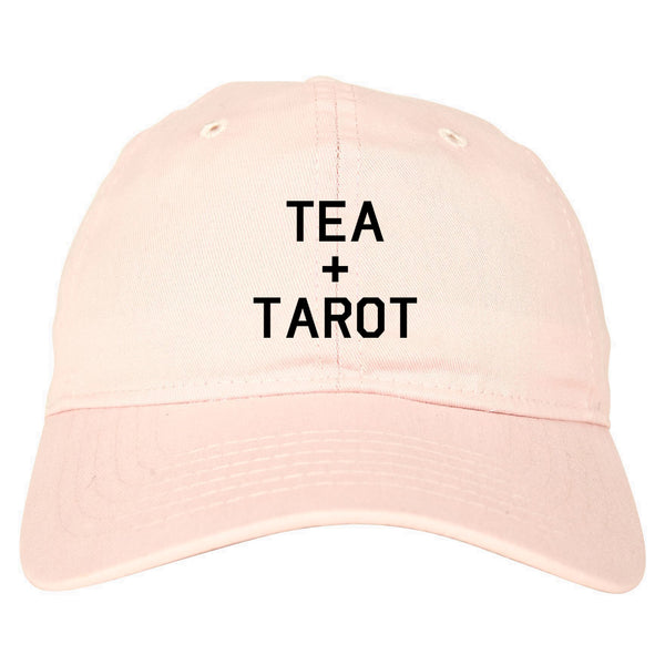 Tea And Tarot Cards pink dad hat