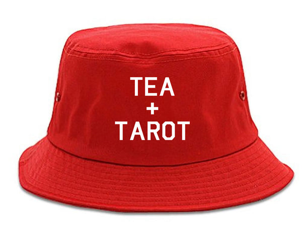 Tea And Tarot Cards red Bucket Hat