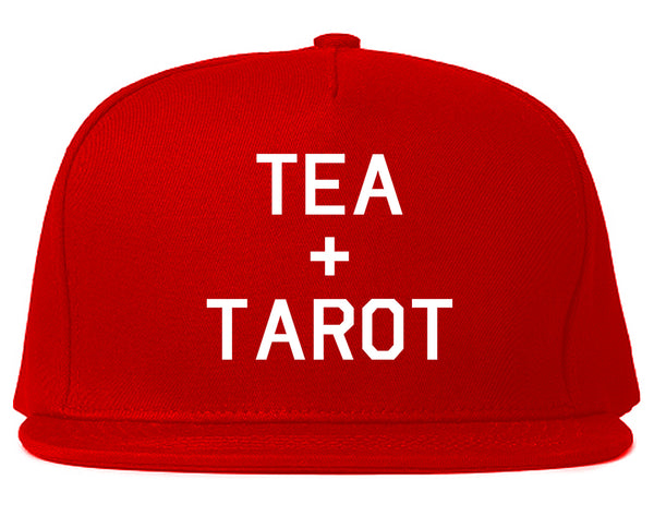 Tea And Tarot Cards Red Snapback Hat