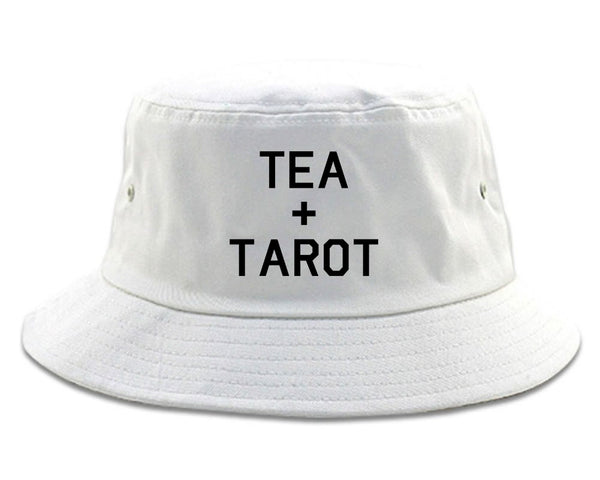 Tea And Tarot Cards white Bucket Hat