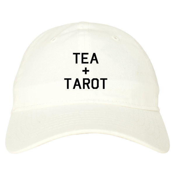 Tea And Tarot Cards white dad hat