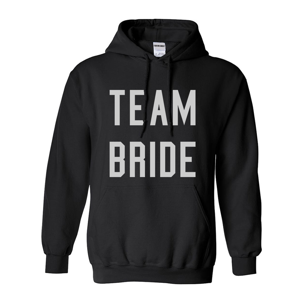 Team Bride Wedding Bachelorette Black Womens Pullover Hoodie