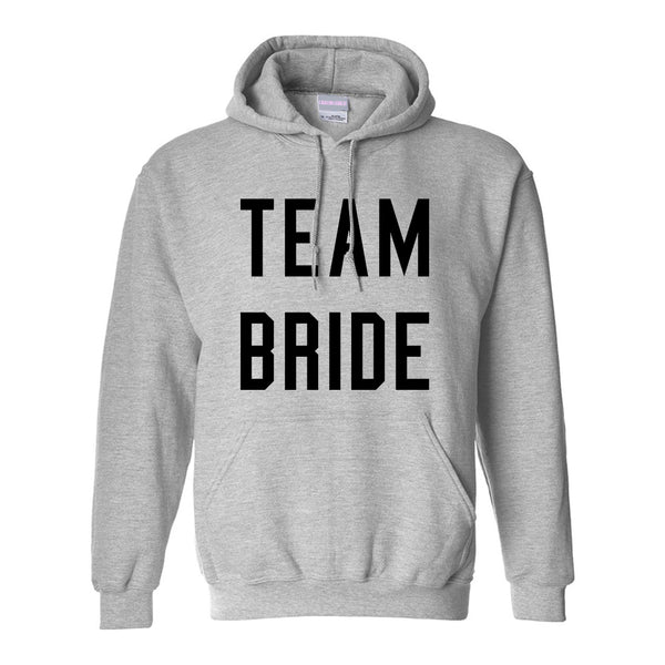 Team Bride Wedding Bachelorette Grey Womens Pullover Hoodie