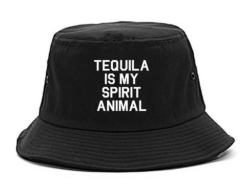 Tequila Is My Spirit Animal Black Bucket Hat
