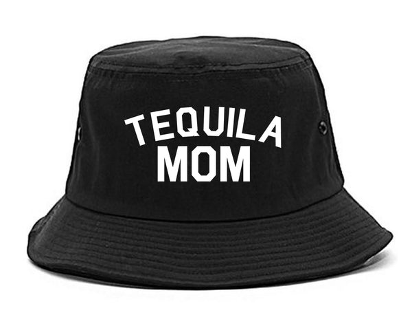 Tequila Mom Funny black Bucket Hat