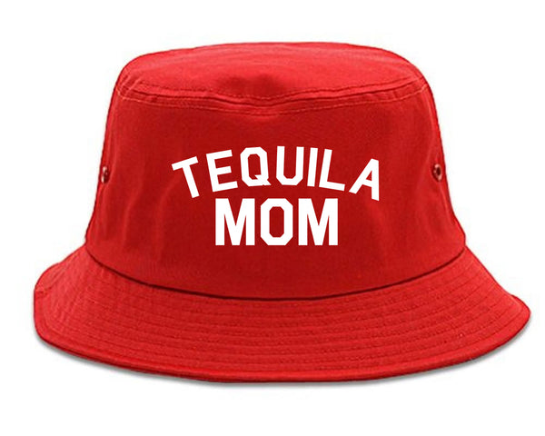 Tequila Mom Funny red Bucket Hat