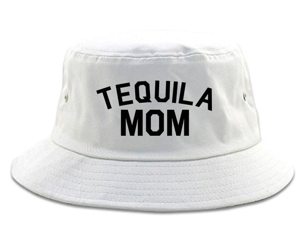 Tequila Mom Funny white Bucket Hat