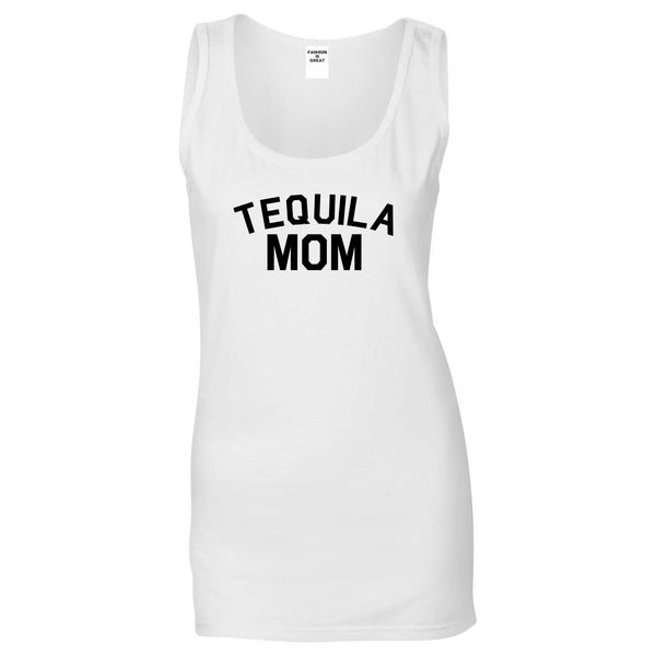 Tequila Mom Funny White Womens Tank Top