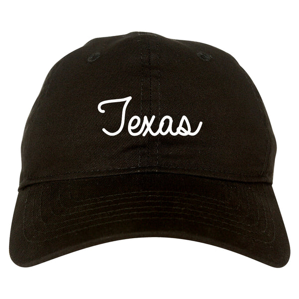 Texas TX Script Chest black dad hat
