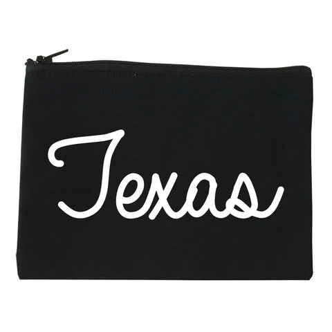 Texas TX Script Chest black Makeup Bag