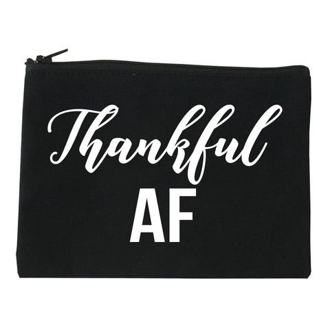 Thankful AF Thanksgiving Black Makeup Bag