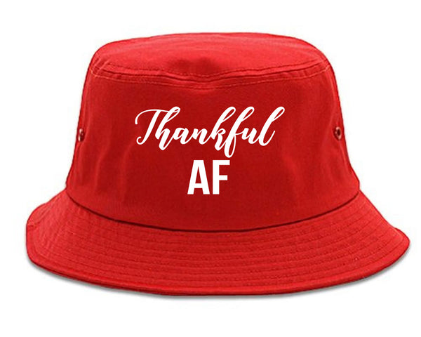 Thankful AF Thanksgiving Red Bucket Hat