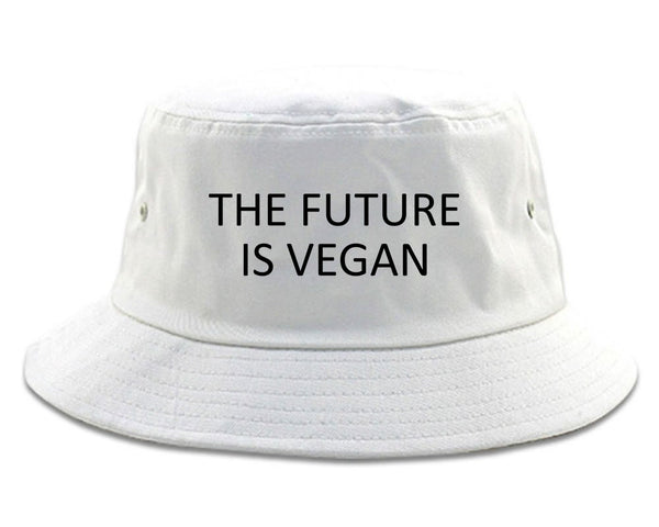 The Future Is Vegan white Bucket Hat