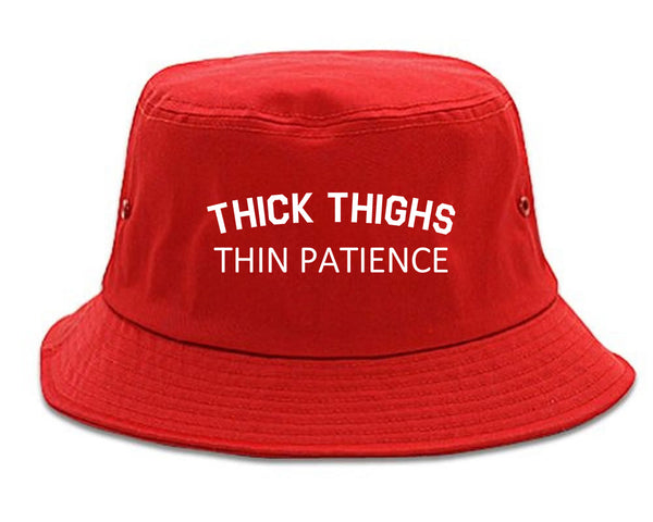 Thick Thighs Thin Patience Bucket Hat Red