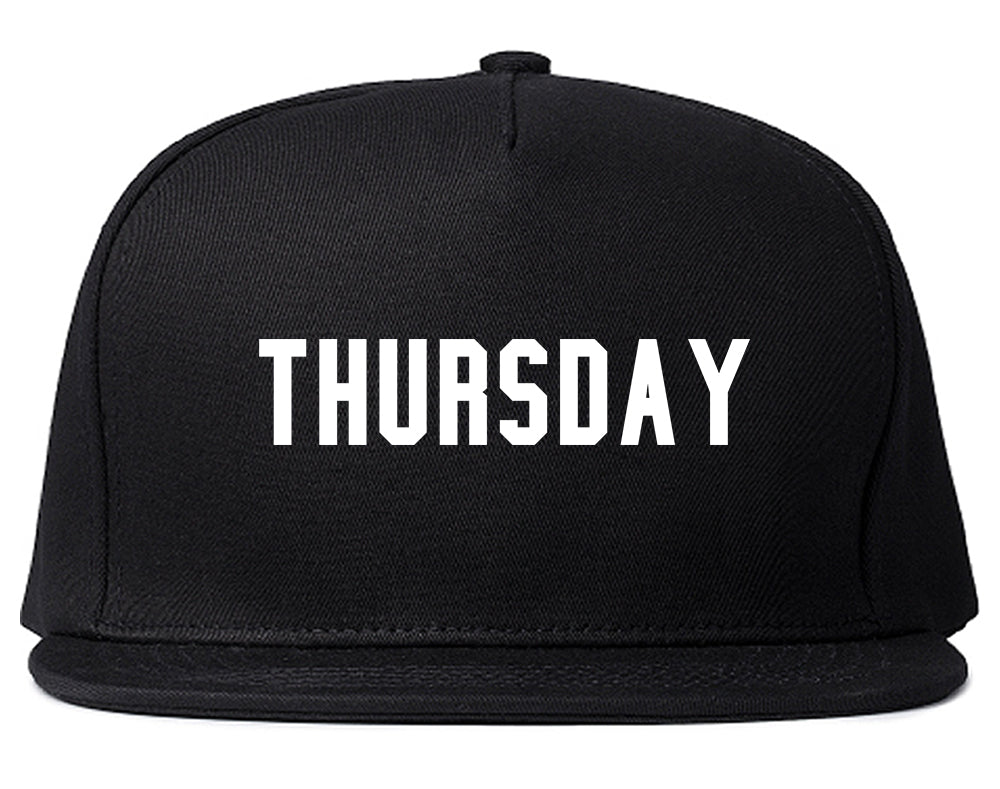 Thursday Days Of The Week Black Snapback Hat