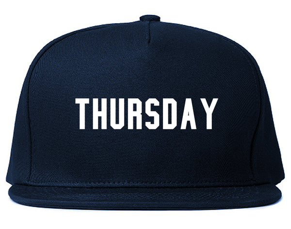 Thursday Days Of The Week Blue Snapback Hat